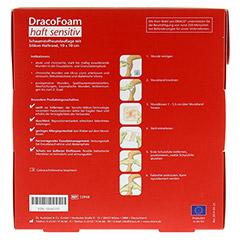 DRACOFOAM Haft sensitiv Schaumst.Wund.10x10 cm 10 Stück - Rückseite