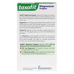 TAXOFIT Magnesium 350 Dragees 40 Stück - Rückseite
