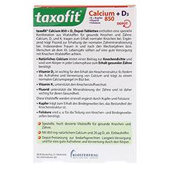 TAXOFIT Calcium 850+D3 Depot Tabletten 45 Stück - Rückseite