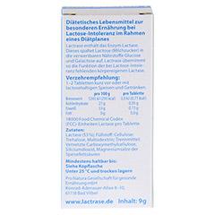 LACTRASE 18.000 FCC Tabletten im Spender 40 Stück - Rückseite