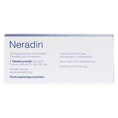 NERADIN Tabletten 20 Stück - Rückseite