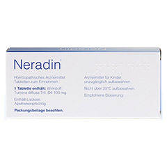 NERADIN Tabletten 40 Stück - Rückseite