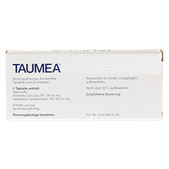 TAUMEA Tabletten 40 Stück - Rückseite