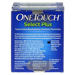 ONE TOUCH Select Plus Blutzucker Teststreifen 100 Stück - Rückseite