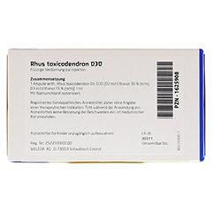 RHUS TOXICODENDRON D 30 Ampullen 8x1 Milliliter N1 - Rückseite
