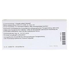 PLEXUS COELIACUS GL D 12 Ampullen 10x1 Milliliter N1 - Rückseite
