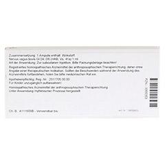 NERVUS VAGUS GL D 6 Ampullen 10x1 Milliliter N1 - Rückseite