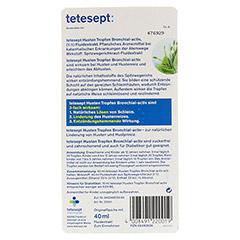 Tetesept Hustentropfen Bronchial-activ zuckerfrei 40 Milliliter - Rückseite