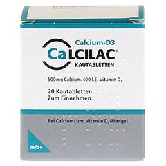 Calcilac 500mg/400 I.E. 20 Stück N1 - Rückseite