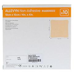 ALLEVYN non Adhesive 10x10 cm Wundverband 10 Stück - Rückseite