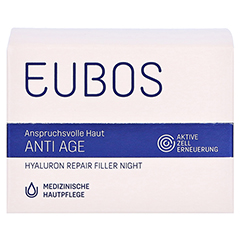 Eubos Hyaluron Repair Filler night Creme 50 Milliliter - Vorderseite