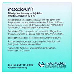 METABIOSULF N Injektionslösung 5x2 Milliliter - Rückseite