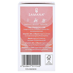 SAMANA PROTECT 9in1 Kapseln mit Bakterienkultur 60 Stück - Rechte Seite