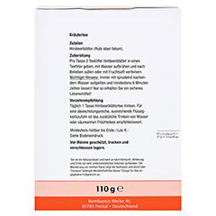 Himbeerblätter TEE 110 Gramm - Rückseite