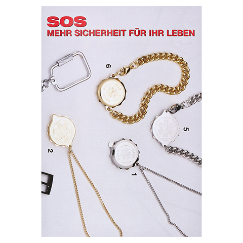 SOS Anhänger m.Notfallausweis 1 Stück