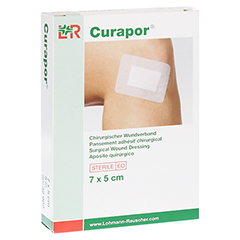 CURAPOR Wundverband steril chirurgisch 5x7 cm 5 Stück