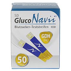 SD GlucoNavii GDH Blutzucker-Teststreifen 1x50 Stück - Vorderseite