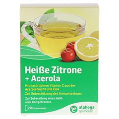 ALPHEGA heiße Zitrone+Acerola Pulver 20x5 Gramm - Vorderseite