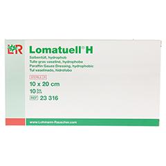 LOMATUELL H Salbentüll 10x20 cm steril 10 Stück - Vorderseite