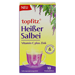 TOPFITZ heißer Salbei Trinktabletten 10 Stück - Vorderseite