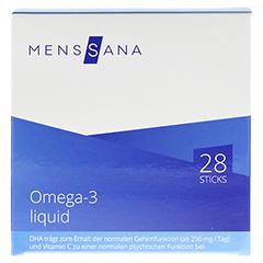 OMEGA 3 liquid MensSana Sticks 28 Stück - Vorderseite