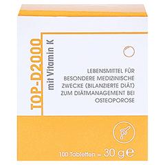 TOP D 2000 Tabletten 100 Stück - Vorderseite