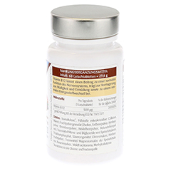 VITAMIN B12 LUTSCHTABLETTEN 60 Stück - Linke Seite