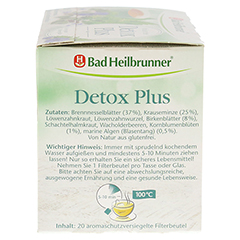 BAD HEILBRUNNER Kräutertee Detox Plus Filterbeutel 20 Stück - Rechte Seite