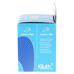 KINESIOLOGIE Tape Elyth 2,5 cmx5 m blau 2 Stück - Rechte Seite