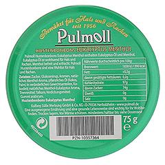 PULMOLL Nostalgie Eukalyptus Menthol Bonbons 75 Gramm - Rückseite