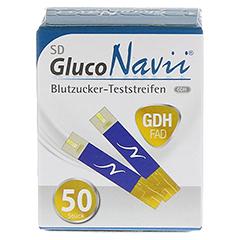 SD GlucoNavii GDH Blutzucker-Teststreifen 1x50 Stück - Rückseite