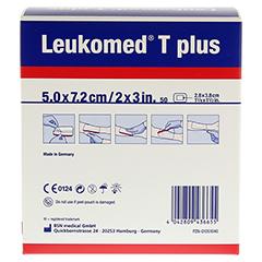 LEUKOMED transp.plus sterile Pflaster 5x7,2 cm 50 Stück - Rückseite