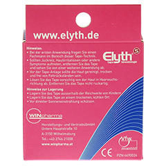 KINESIOLOGIE Tape Elyth 2,5 cmx5 m rot 2 Stück - Rückseite