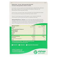 ALPHEGA heiße Zitrone+Acerola Pulver 20x5 Gramm - Rückseite
