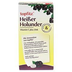 TOPFITZ heißer Holunder Trinktabletten 10 Stück - Rückseite