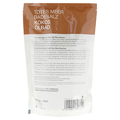 DERMASEL Totes Meer Badesalz+Kokos 1 Packung - Rückseite