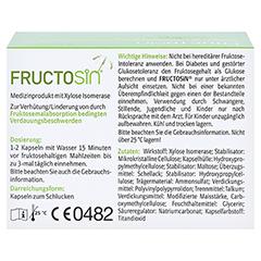 Fructosin Kapseln 90 Stück - Rückseite