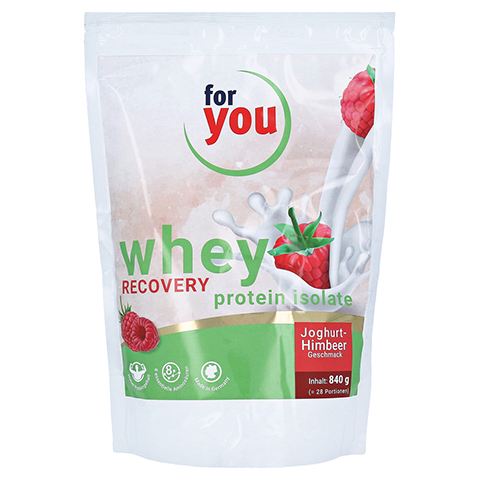 FOR YOU whey protein isolate recovery Jogh.-Himb. 840 Gramm