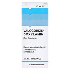 Valocordin-Doxylamin 20 Milliliter N1 - Rückseite