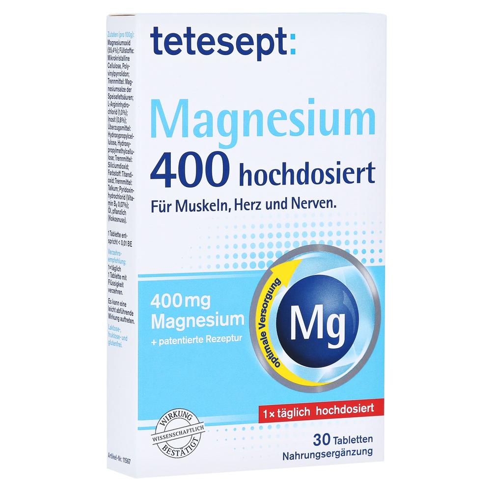d5f7dd96a Tetesept Magnesium 400 hochdosiert 30 Stück online bestellen ...