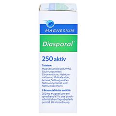 MAGNESIUM DIASPORAL 250 aktiv Brausetabletten 20 Stück - Linke Seite