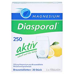 MAGNESIUM DIASPORAL 250 aktiv Brausetabletten 20 Stück - Vorderseite