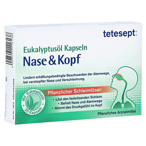 TETESEPT Eukalyptusöl Kapseln Nase & Kopf 20 Stück