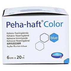 Peha-haft Color Fixierbinde latexfrei 6 cmx20 m blau 1 Stück - Rechte Seite
