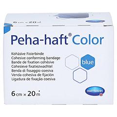 Peha-haft Color Fixierbinde latexfrei 6 cmx20 m blau 1 Stück - Oberseite