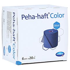 Peha-haft Color Fixierbinde latexfrei 6 cmx20 m blau 1 Stück