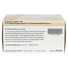 Ketotifen Stulln UD 0,25mg/ml Augentropfen 50x0.4 Milliliter N3 - Oberseite