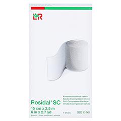 ROSIDAL SC Kompressionsbinde weich 15 cmx2,5 m 1 Stück - Vorderseite