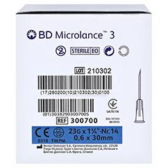 BD MICROLANCE Kanüle 23 G 1 1/4 0,6x30 mm 100 Stück - Rechte Seite