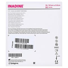INADINE Salbengaze m. PVP Iod. 9,5x9,5cm 10 Stück - Rückseite